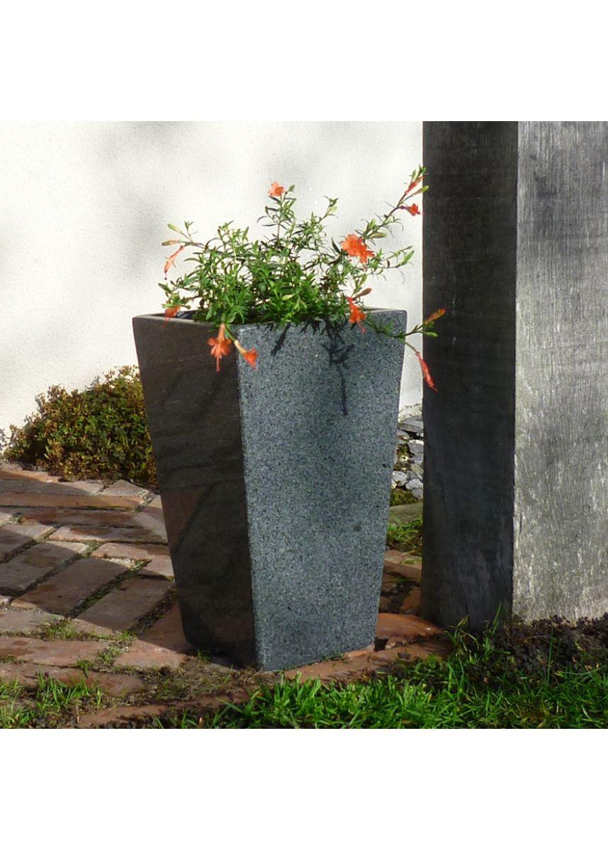 Small stone garden pot