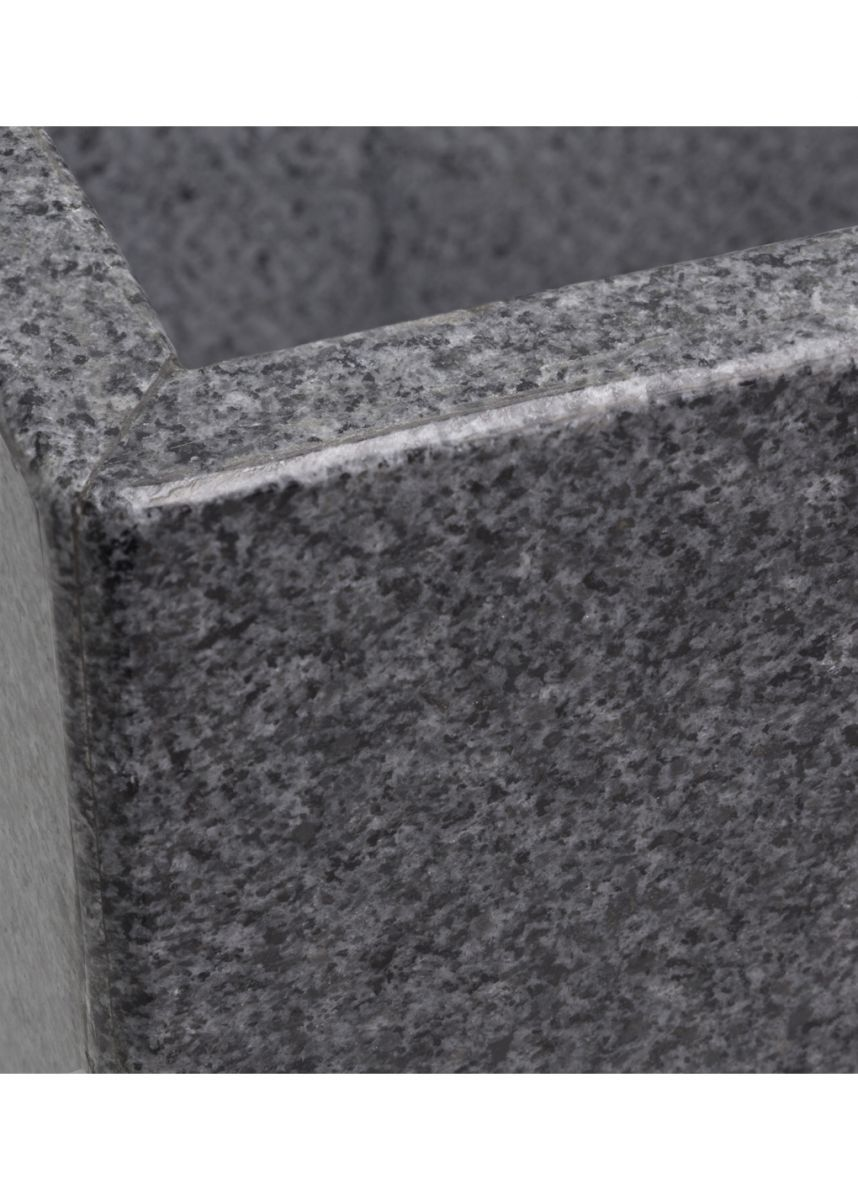 Natural stone granite tall planters   close up