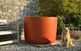 KYOTO 120cm planter in RAL 2013 [Pearl orange]