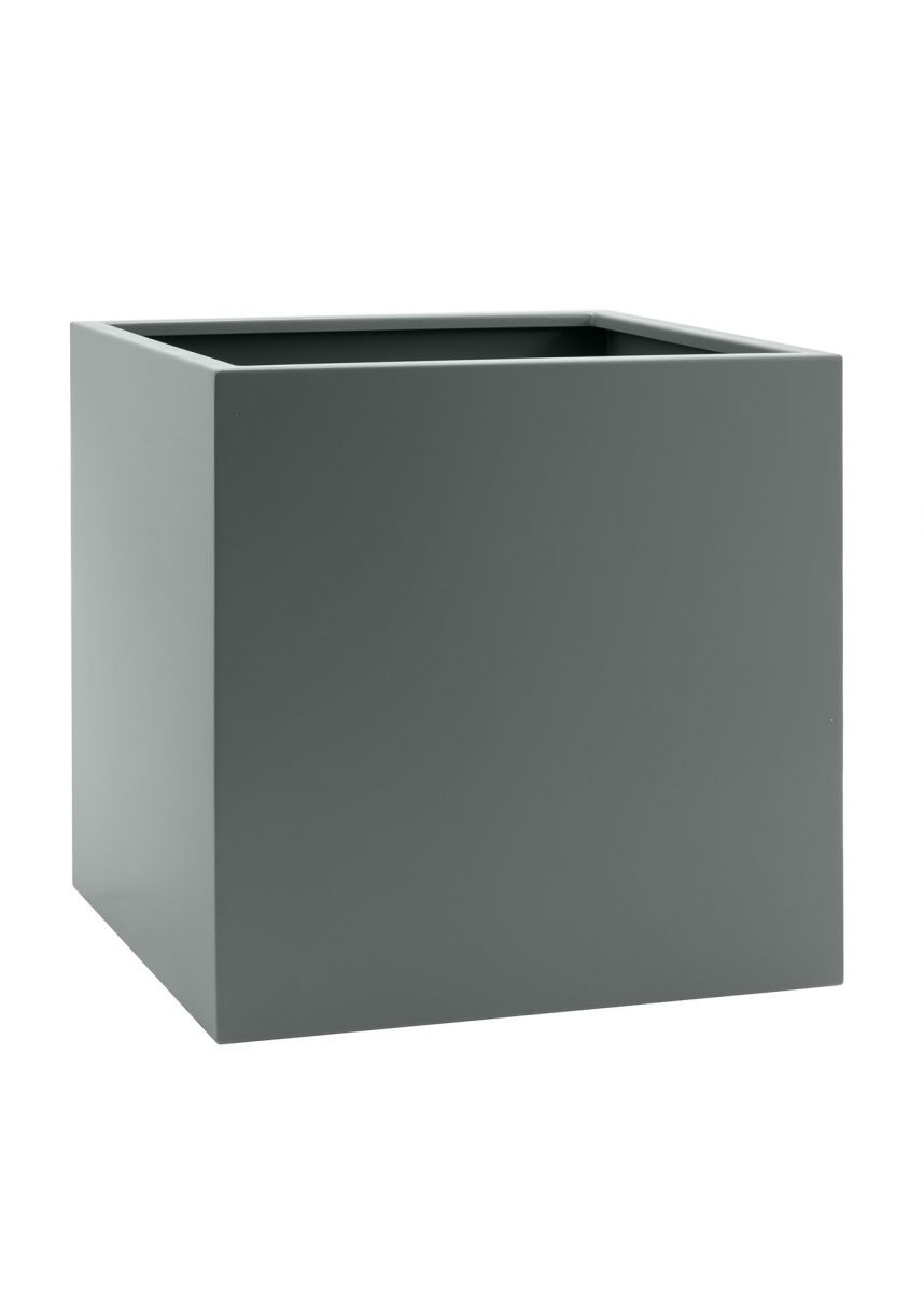 Large square steel planter box
