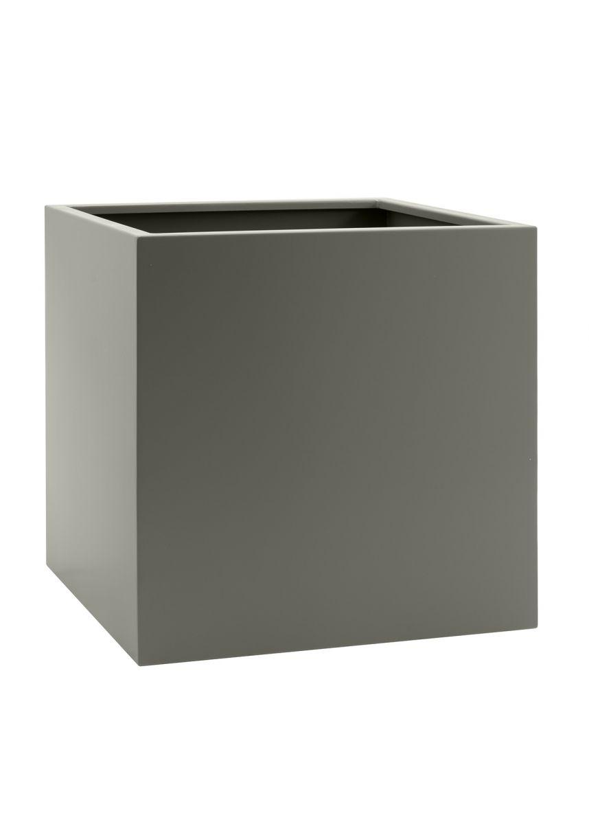 Stone grey steel planters