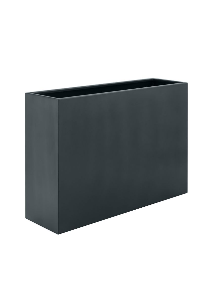Dark grey modern planter boxes