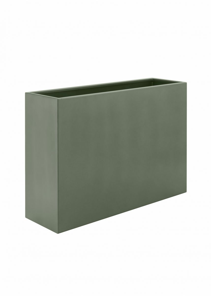 Cement grey large rectangular planter