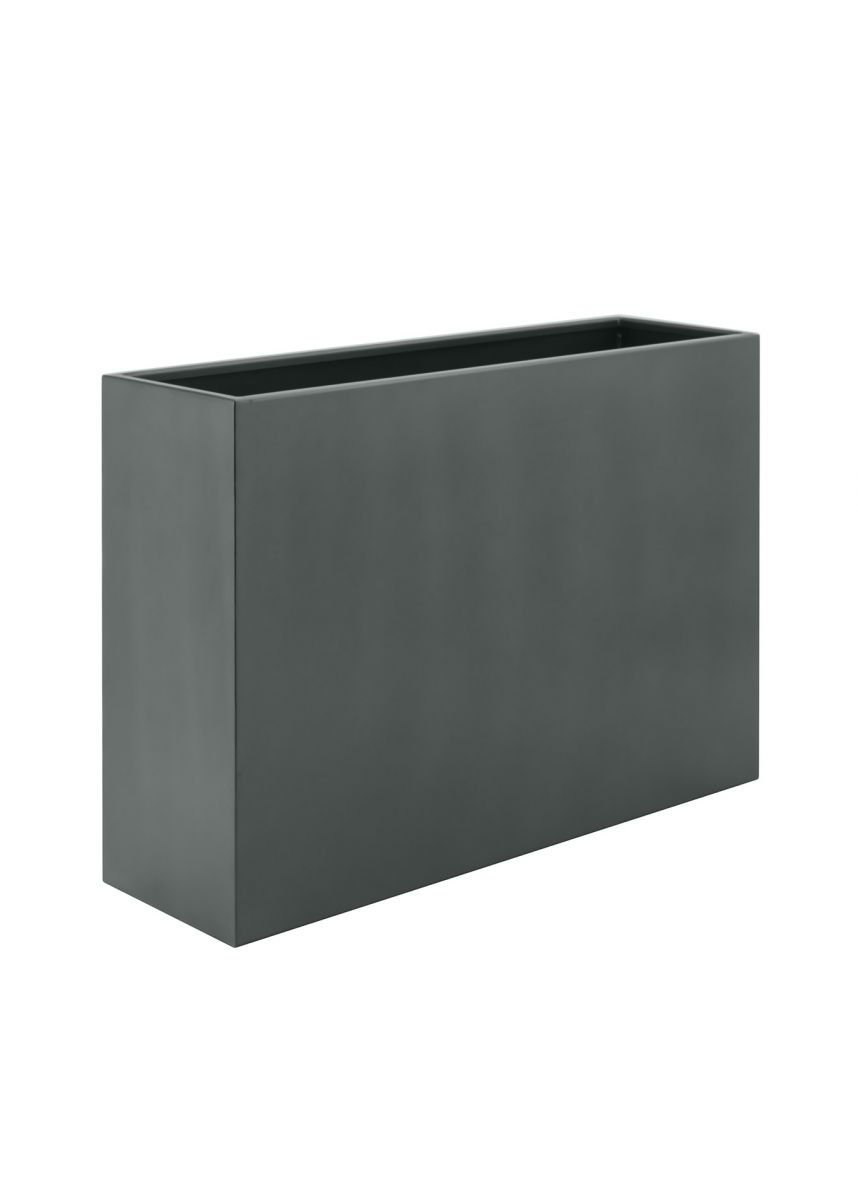 Mouse grey modern coated steel planter