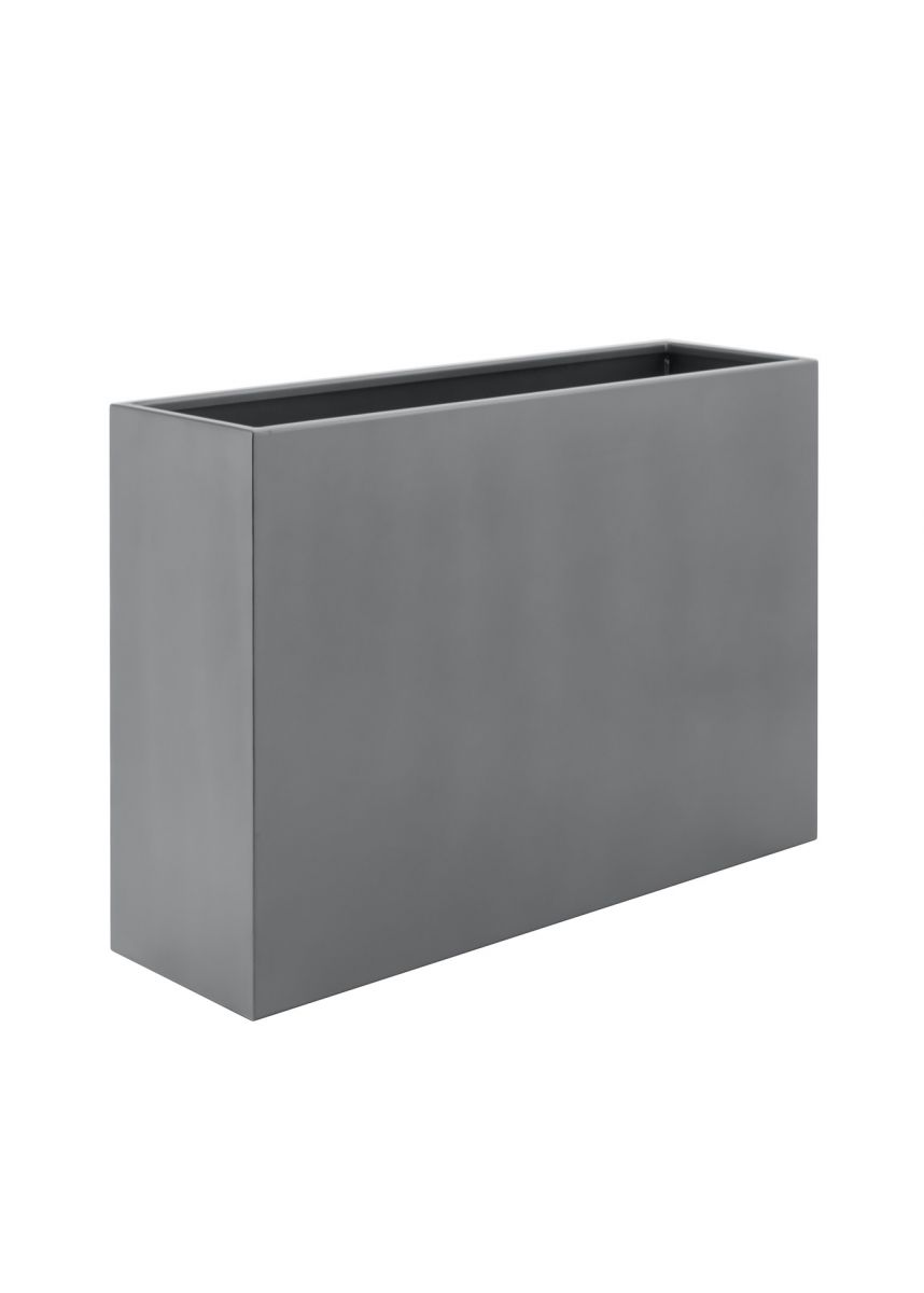 Grey Tall Powder Coated Steel Planter