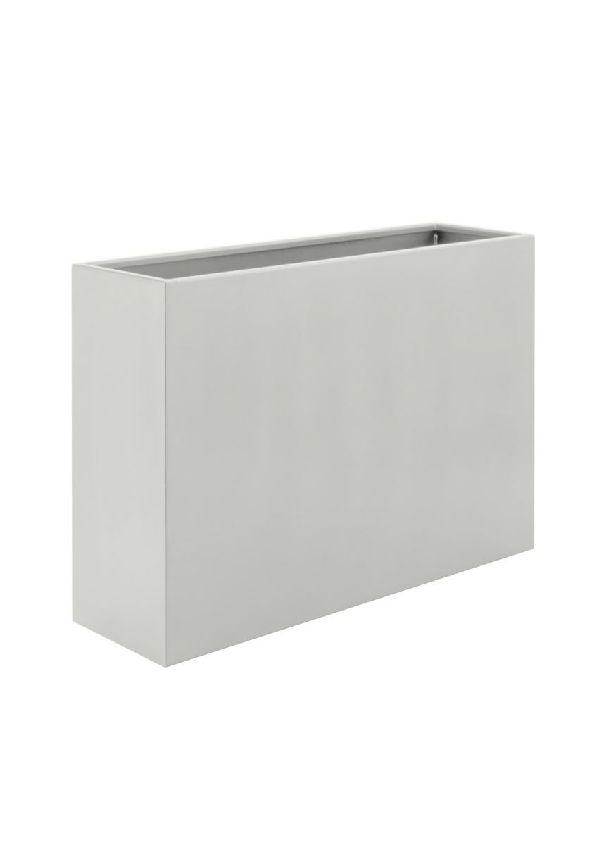 White tall rectangular plant pot