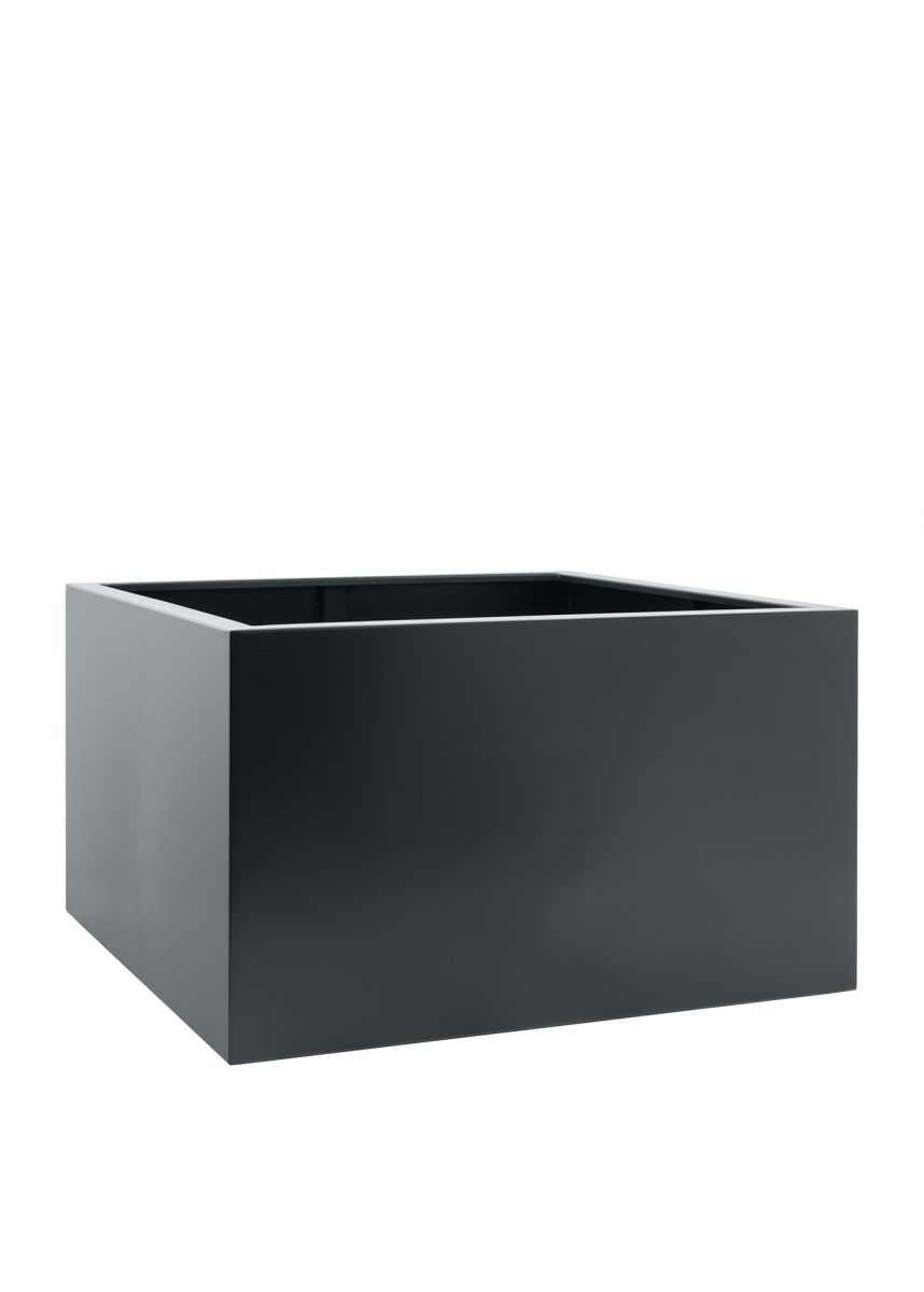 Grey black modern steel planters