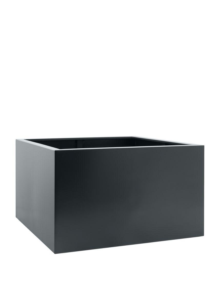 Grey black modern steel planters