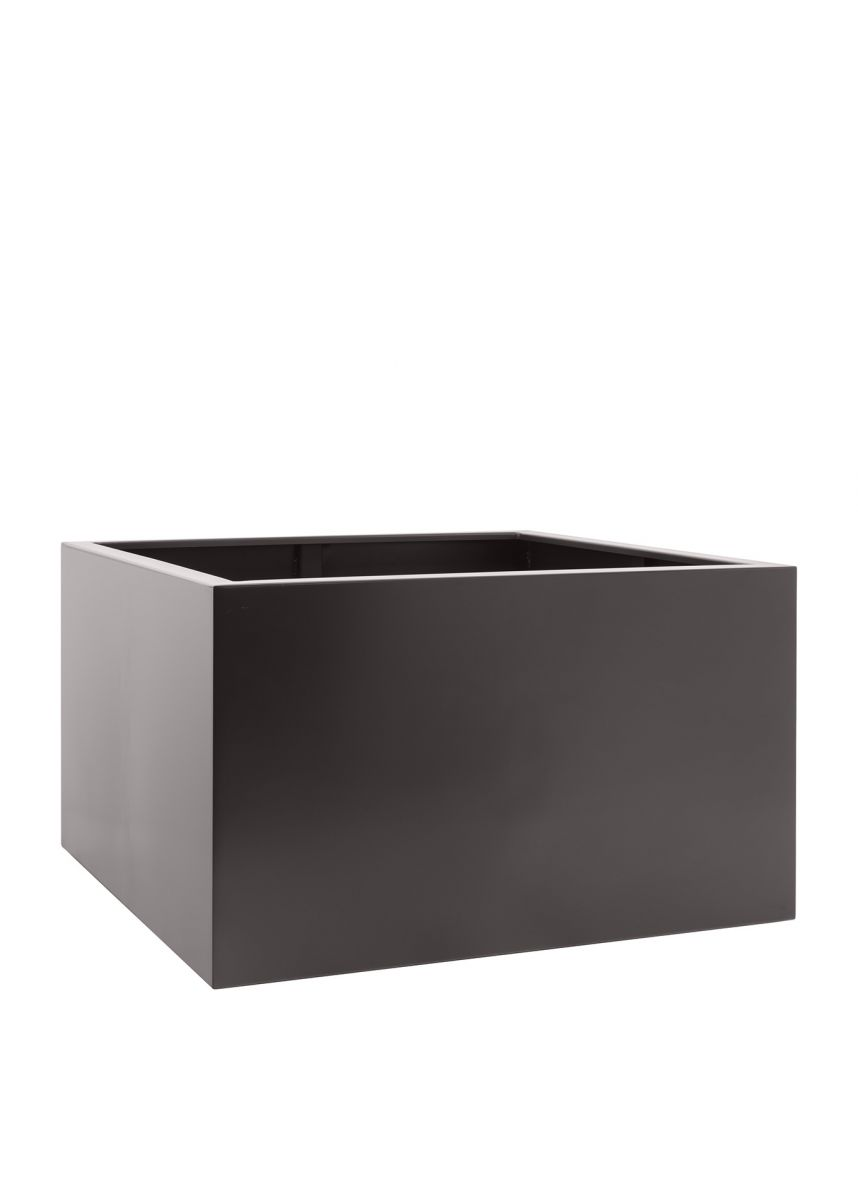 Grey brown square planter box