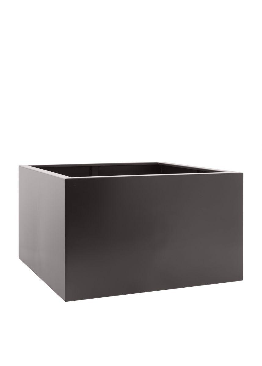 Grey brown square planter box