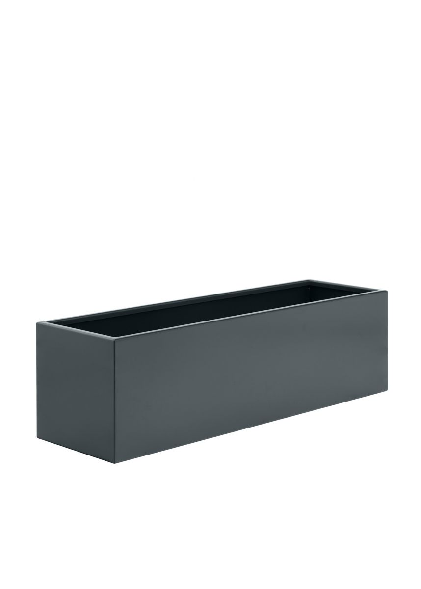 Dark grey trough garden planter