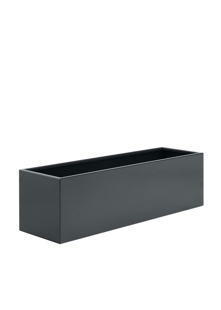 Grey black outdoor garden planters