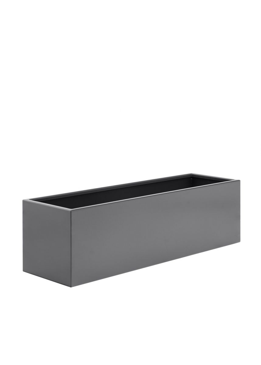 Powder coated steel garden trough