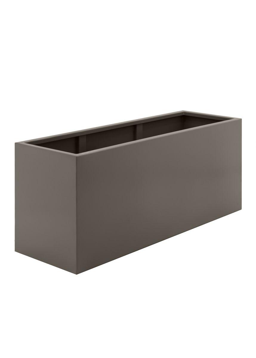 Bronze modern trough planter