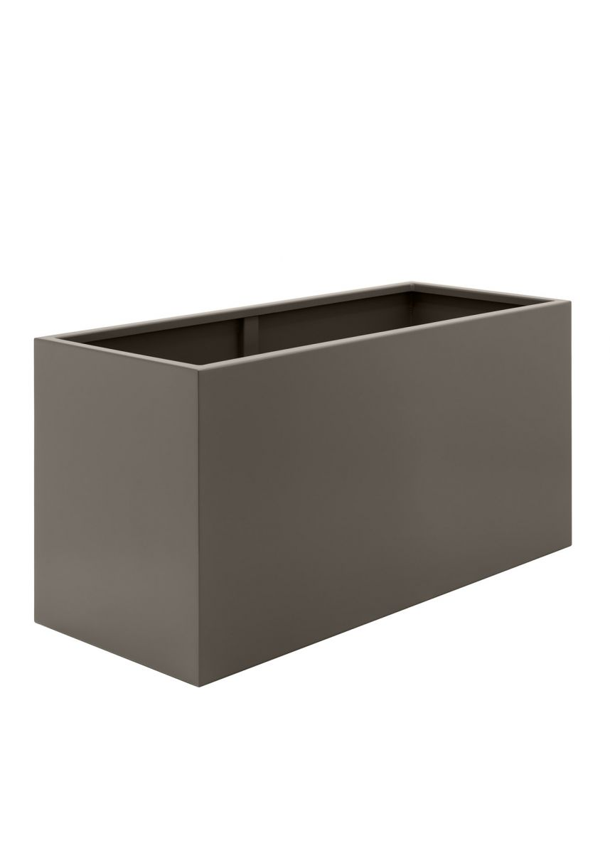 Large bronze powder coated steel planter