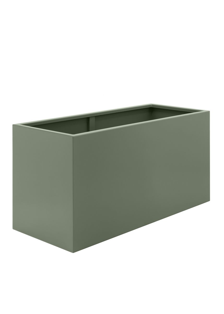 Large garden trough planters in powder coated steel