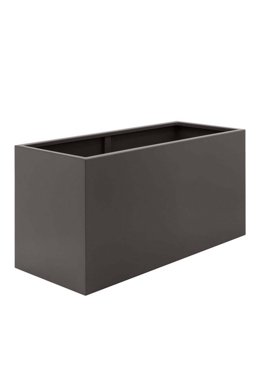 Grey brown big trough planters