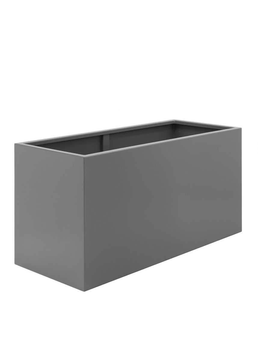 Grey Steel Trough Planters