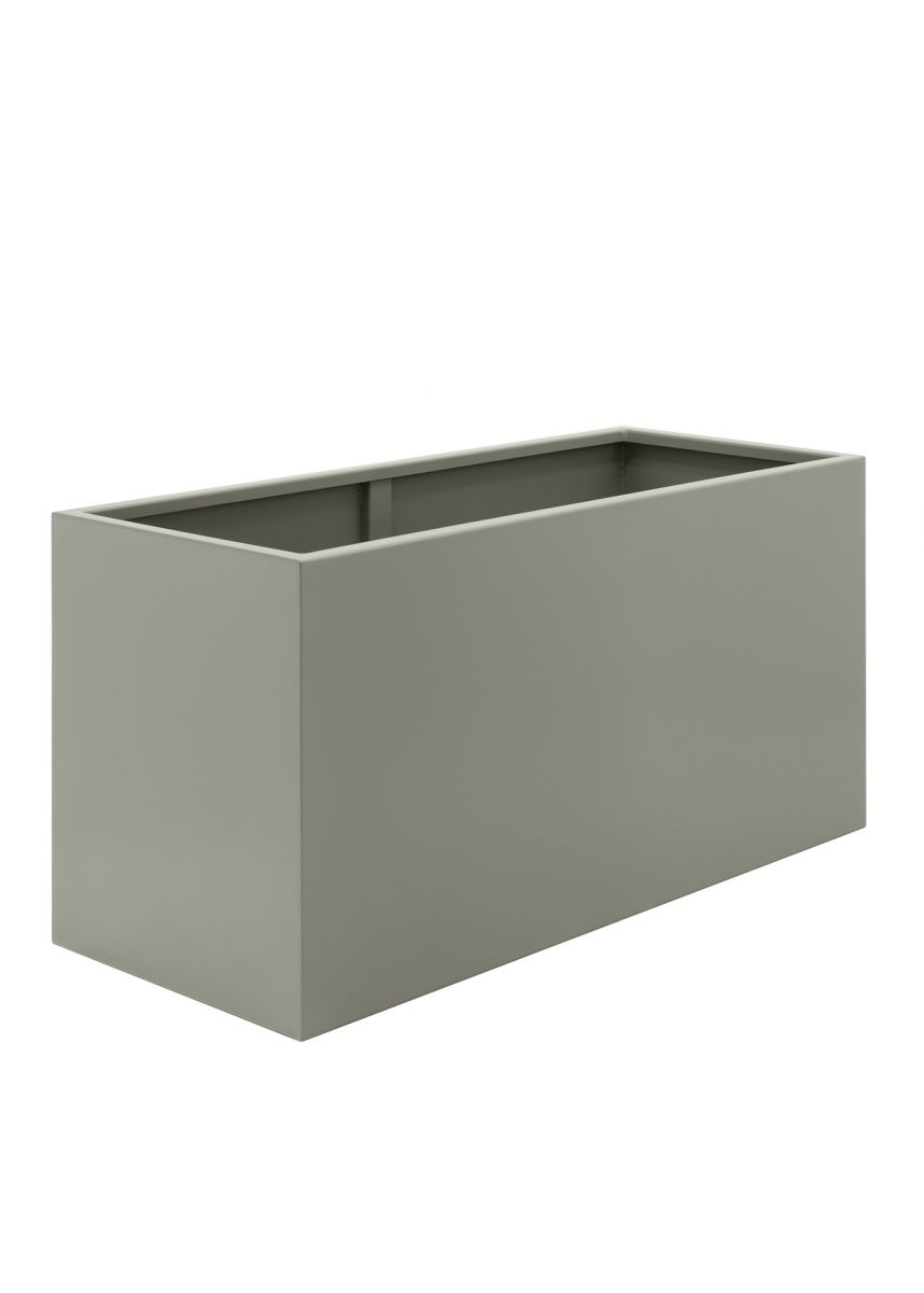 Stone Grey Powder Coated Steel Planters