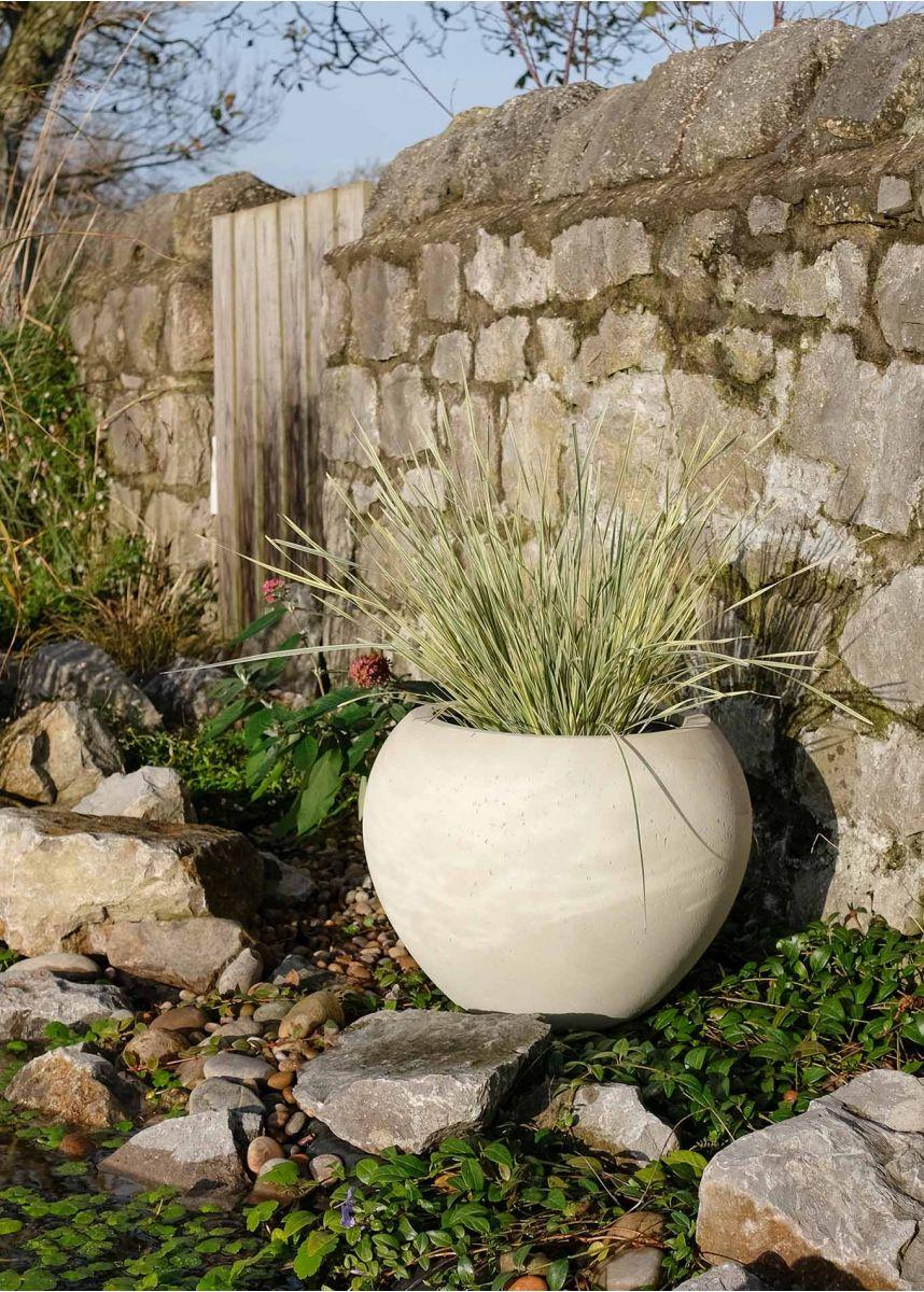 Limestone coloured planter pot