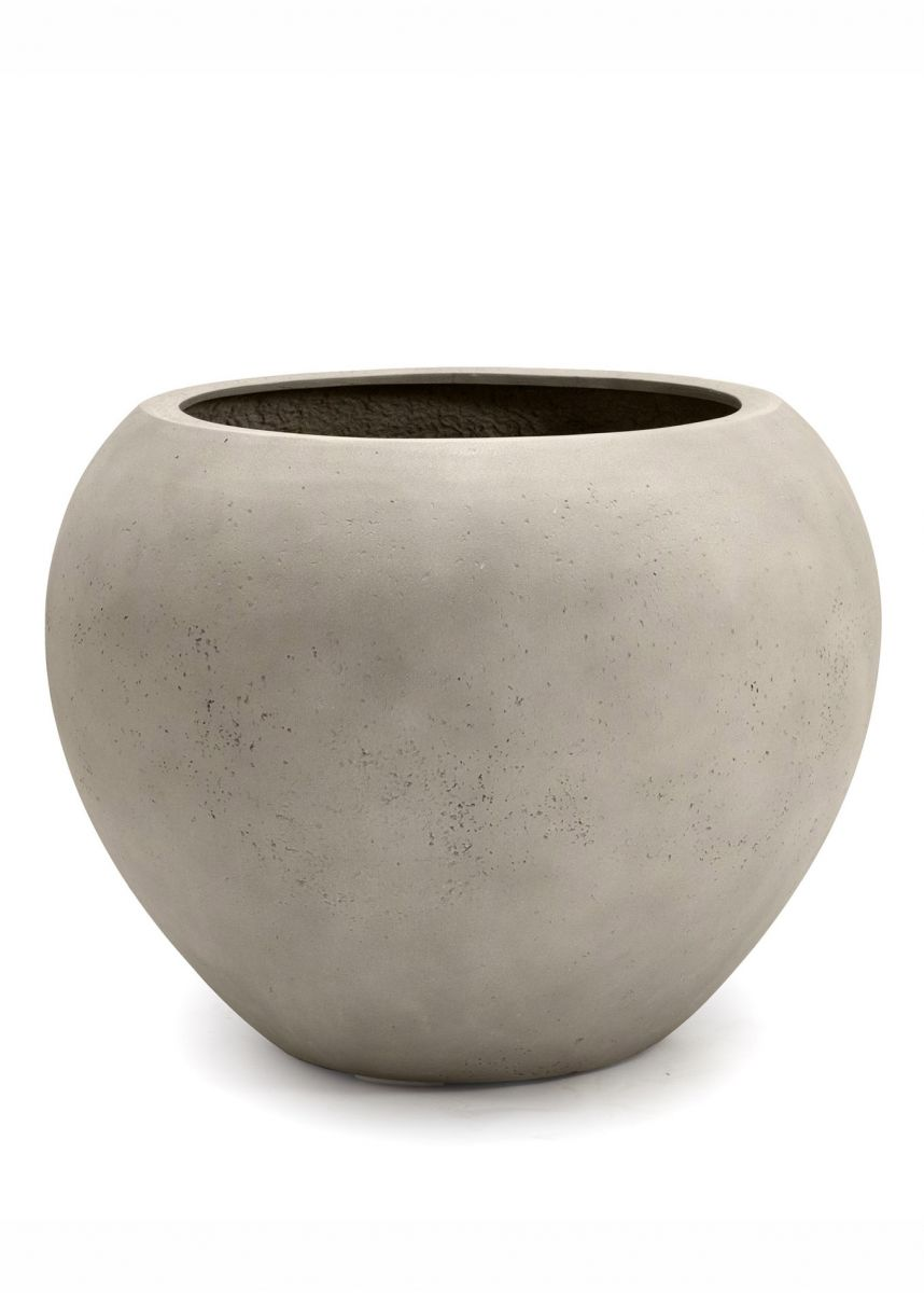 Large white stone effect planters