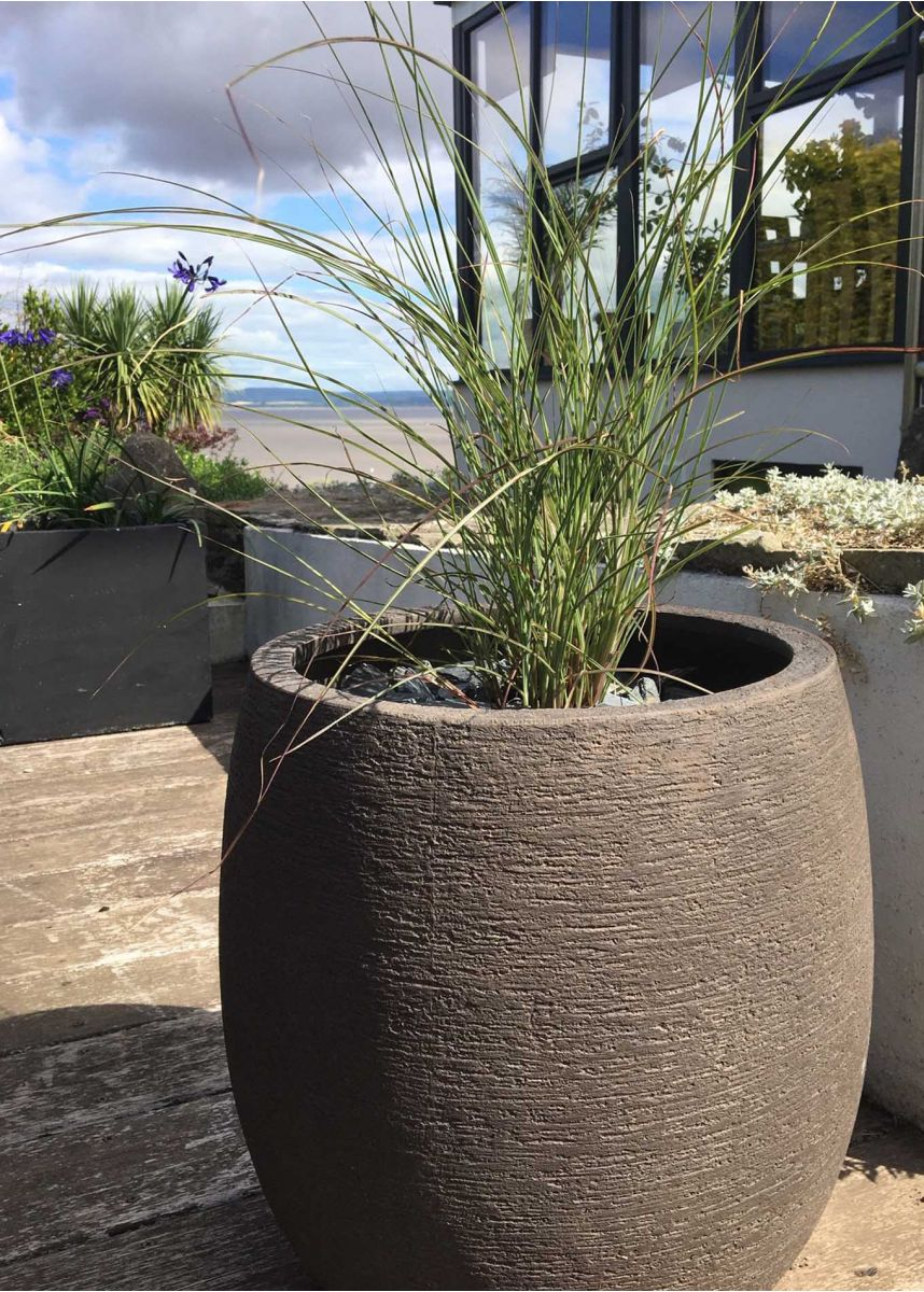 rustic look garden pot