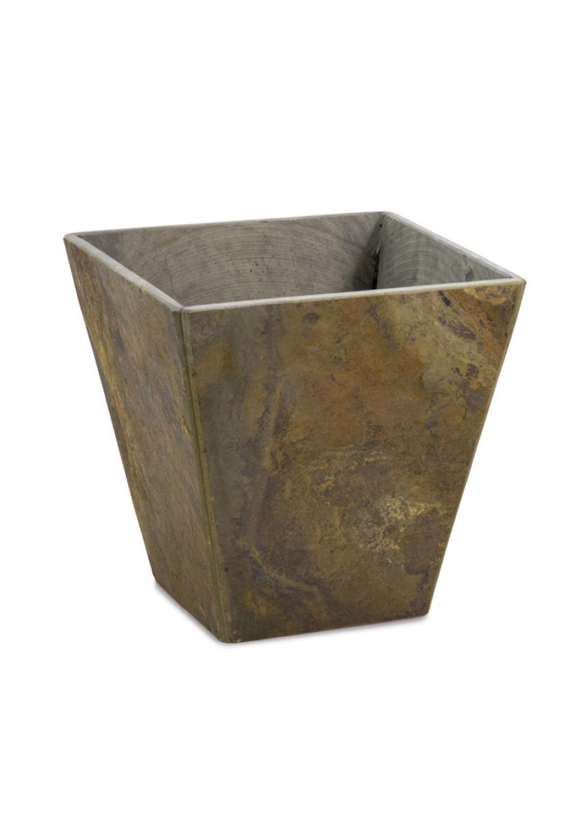 Natural slate tapered planters