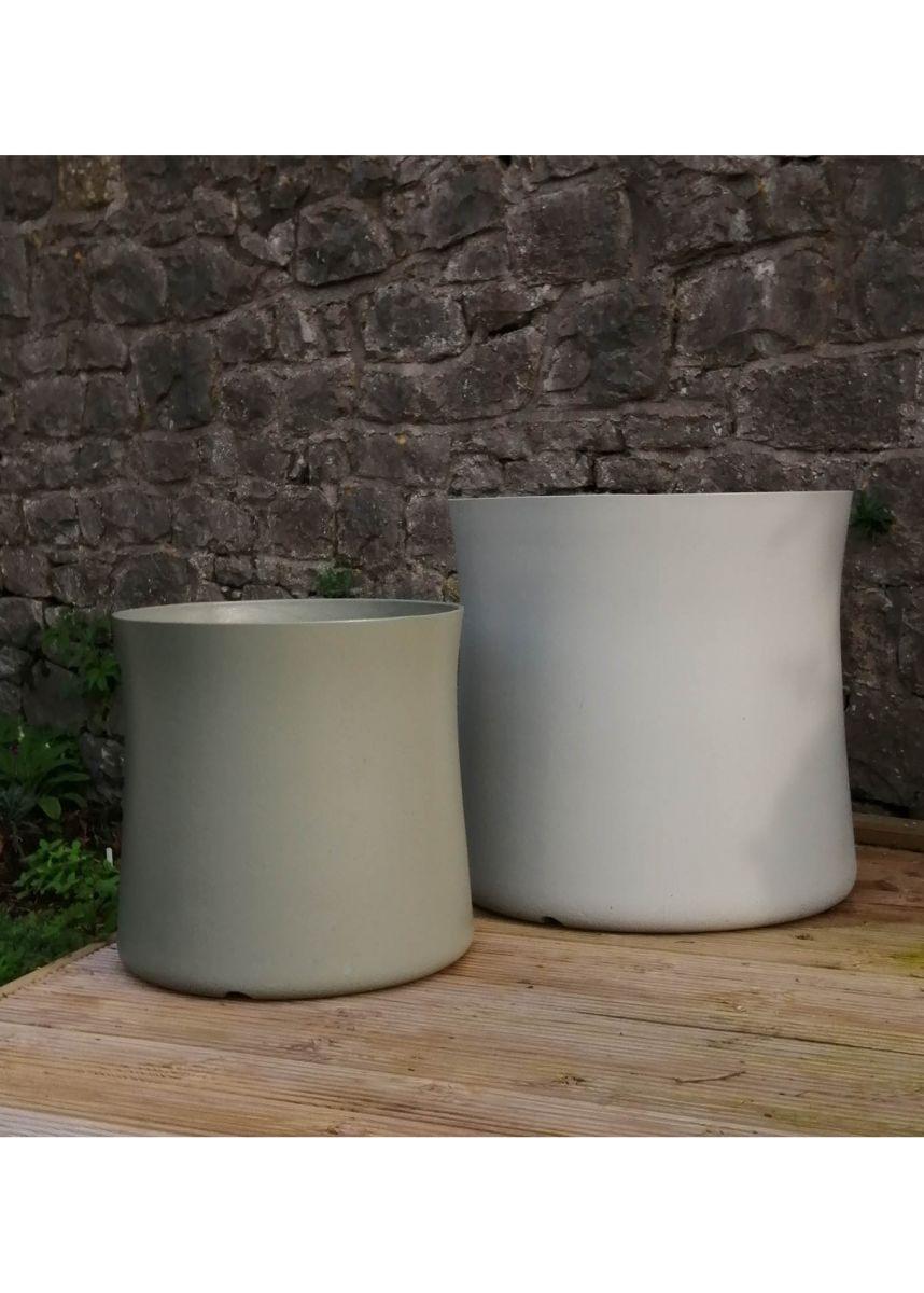 Tall round garden container
