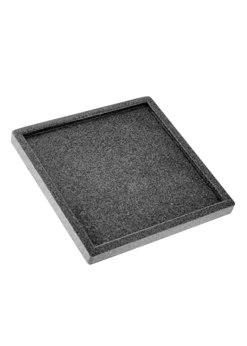 35cm Plant pot tray in granite
