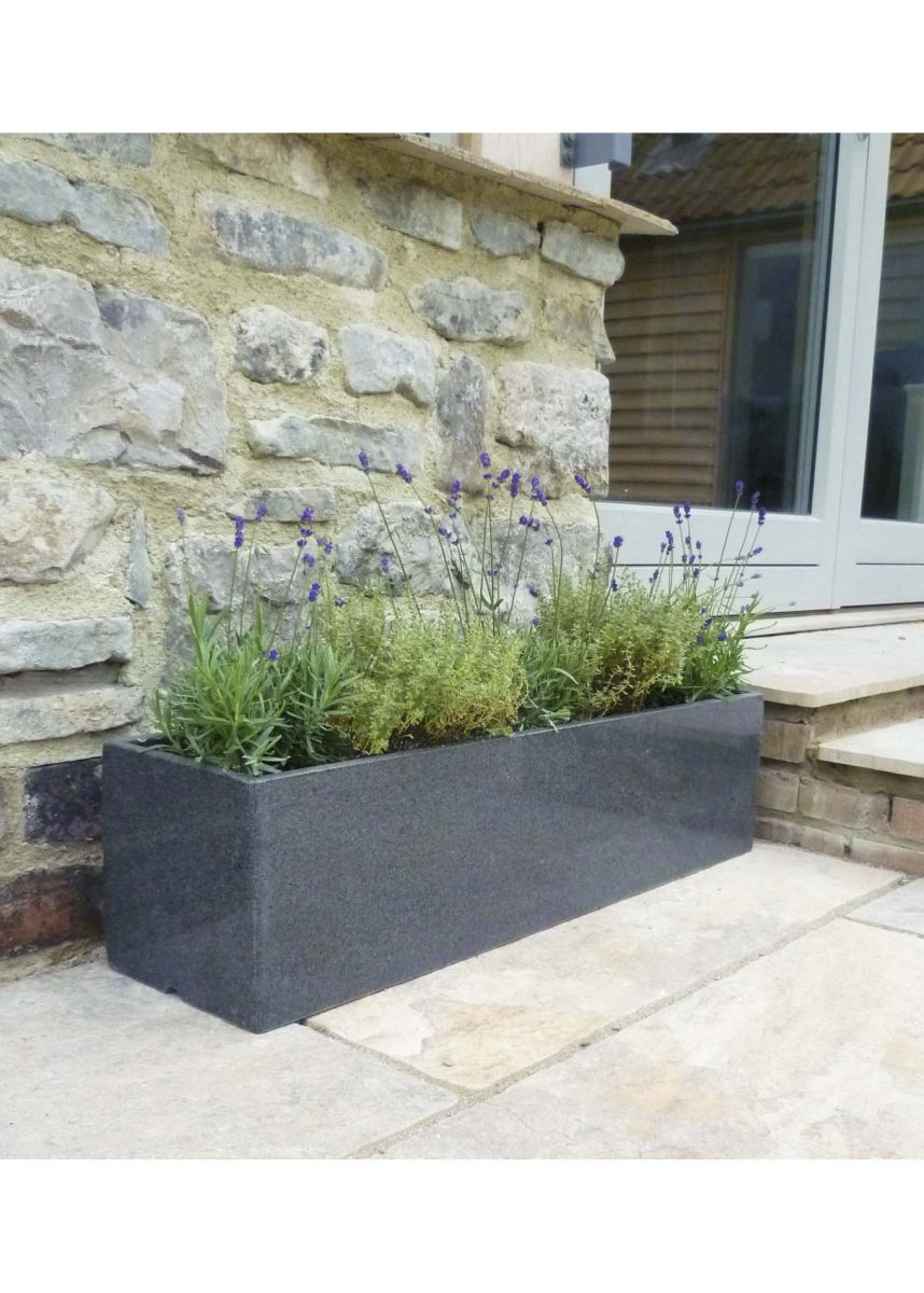 Stone window box