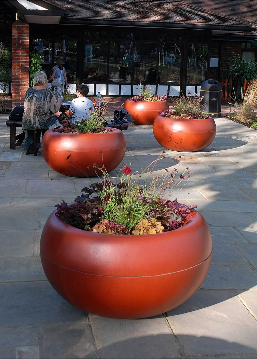 Coloured FRC lightweight plant pots