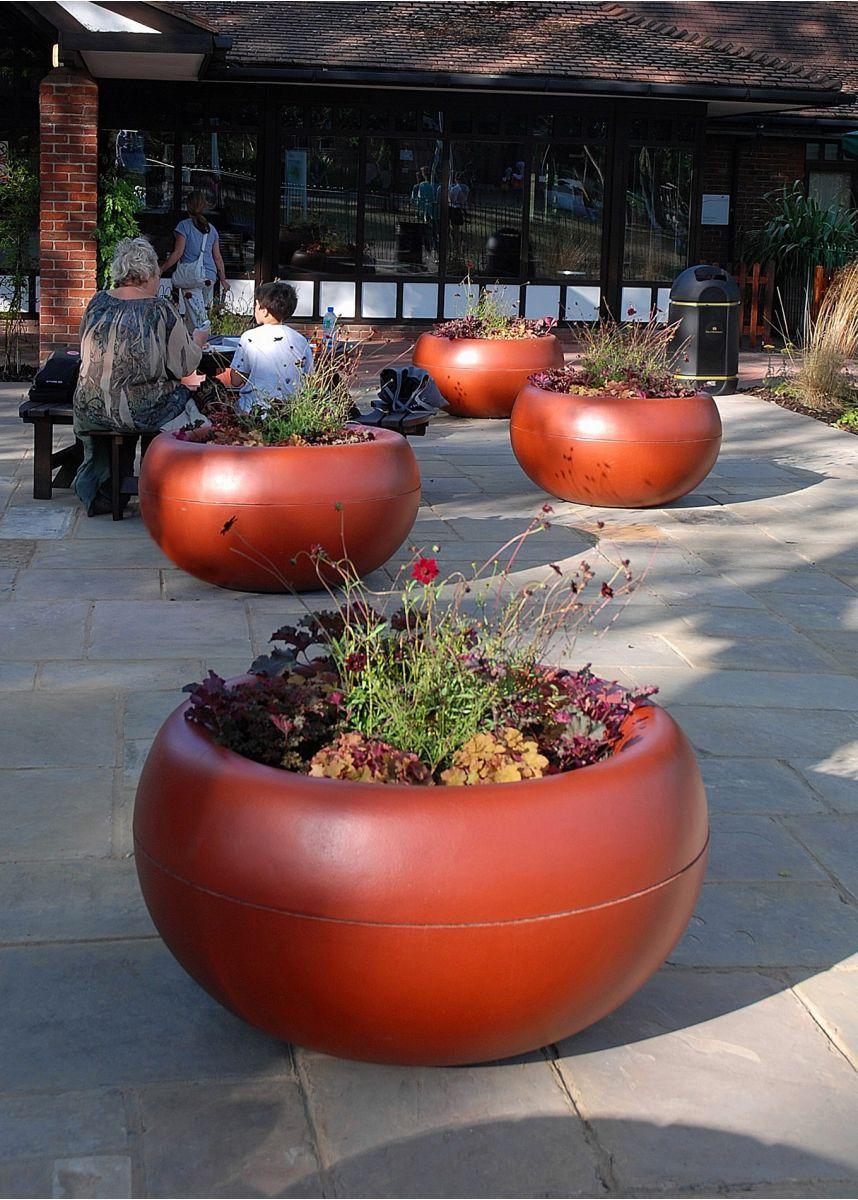 Coloured FRC lightweight plant pots