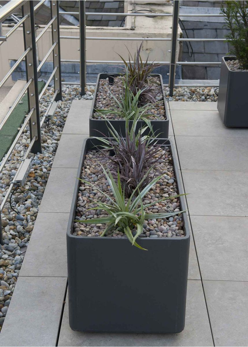 light trough planter for roof terrace