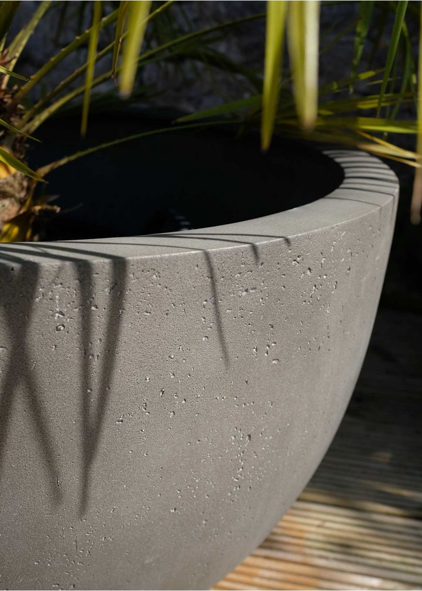 Planter textured surface detail