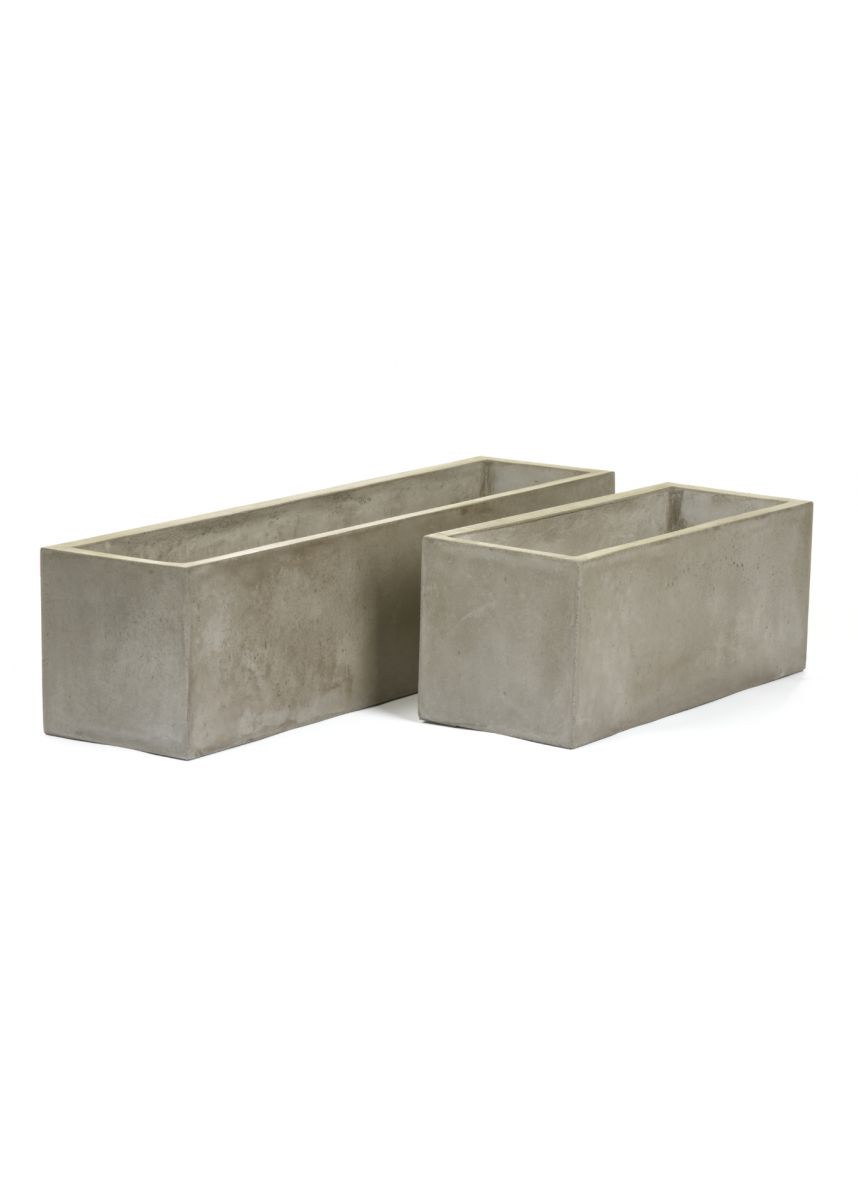 Fresco plaster trough planters 50cm 80cm wide
