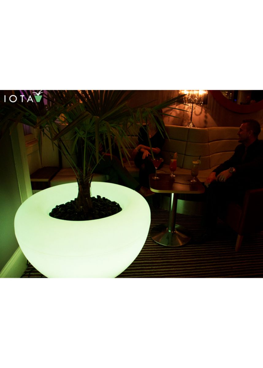 LED lit Moonlight Plant Pots