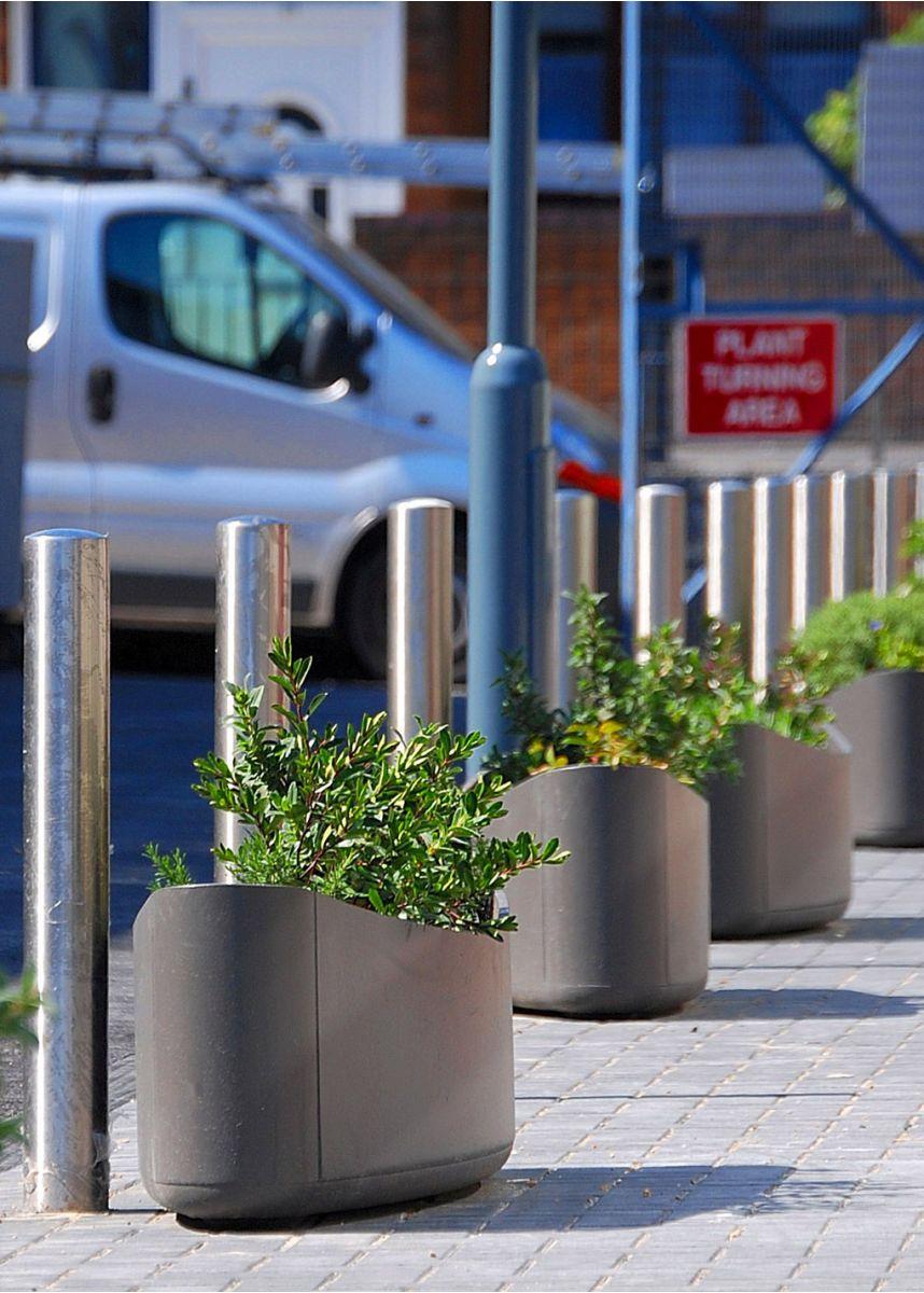 Long and low plantship plant pots