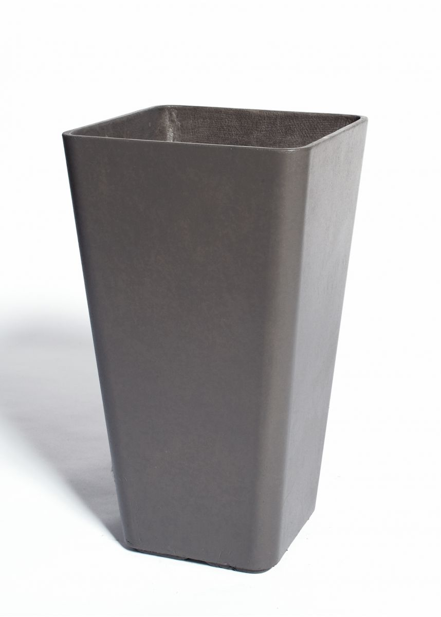 Lightweight FRC tall square taper plant pots