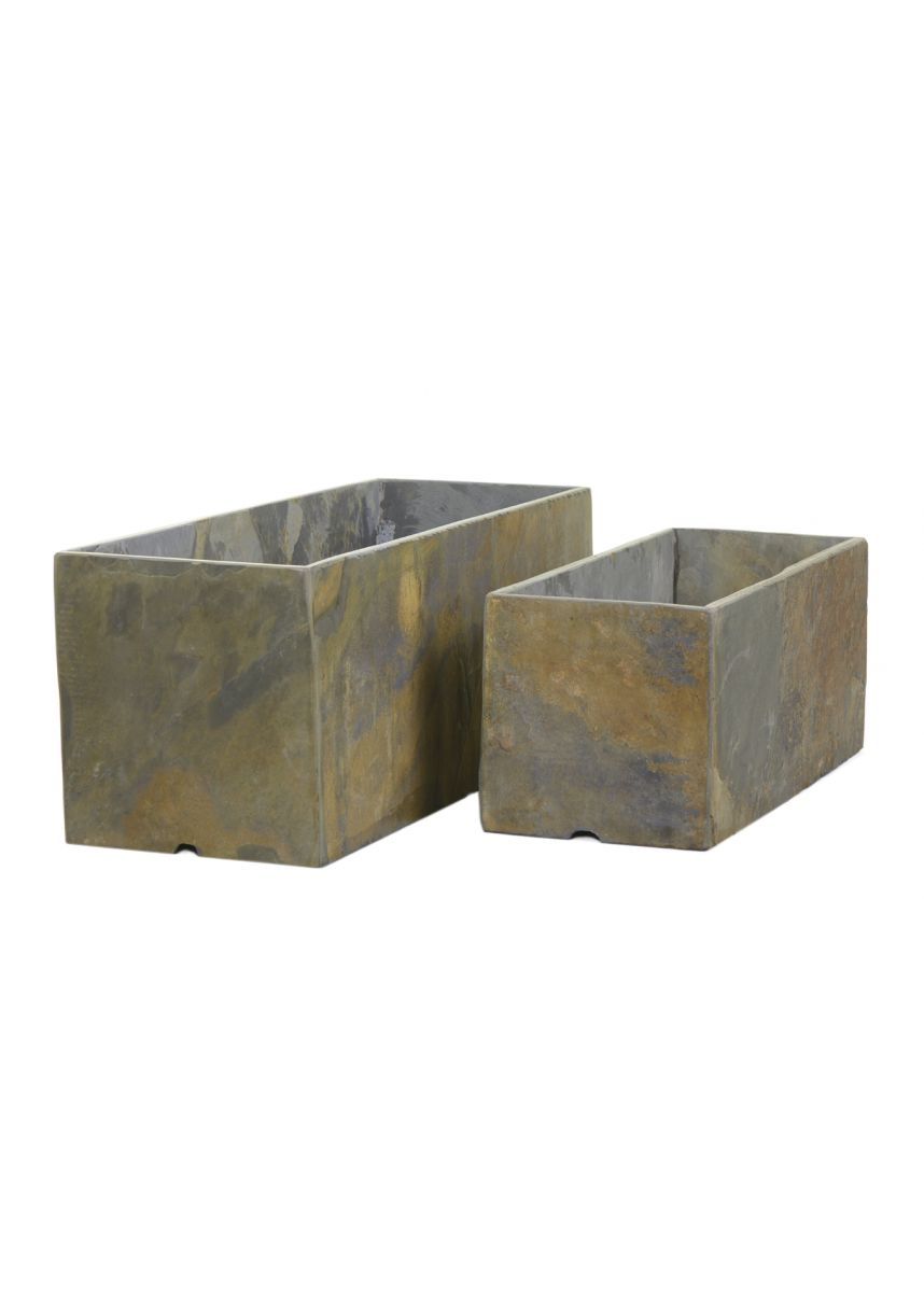 Small and Large trough slate plant pots