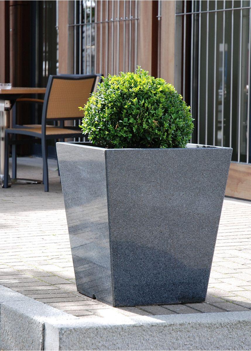 Natural granite taper planter