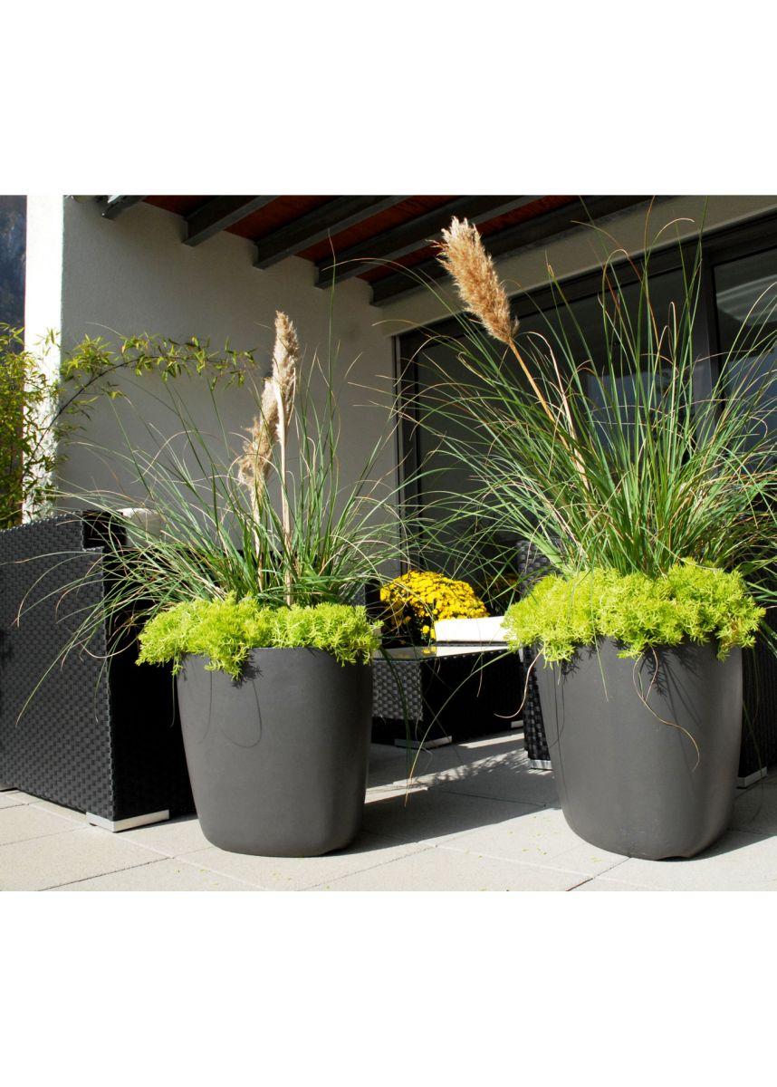Anthracite FRC plant pots