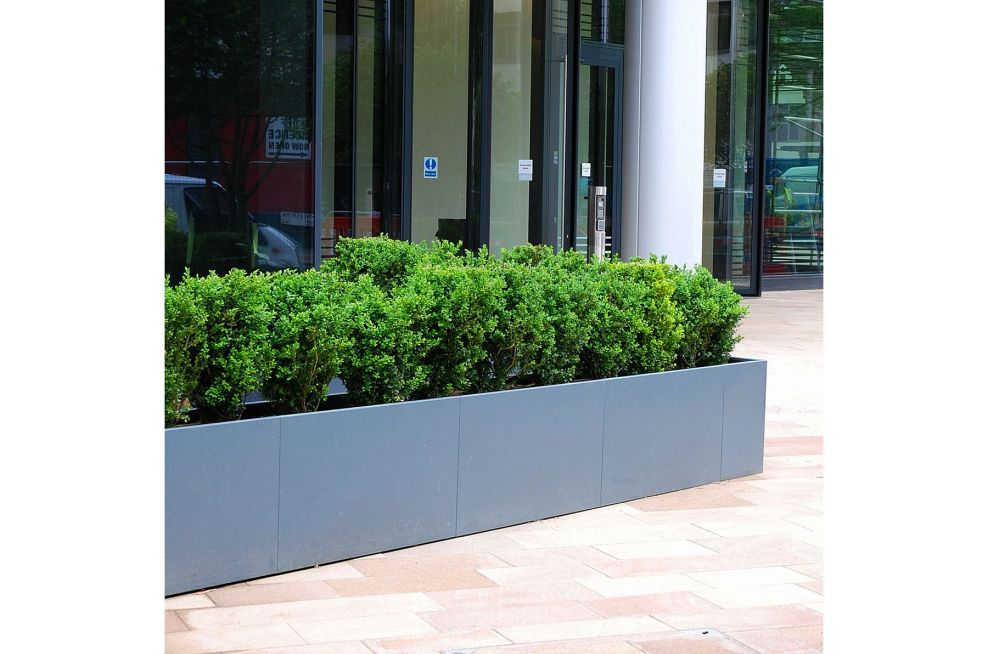 Bespoke, large outdoor planter for Hammersmith offices