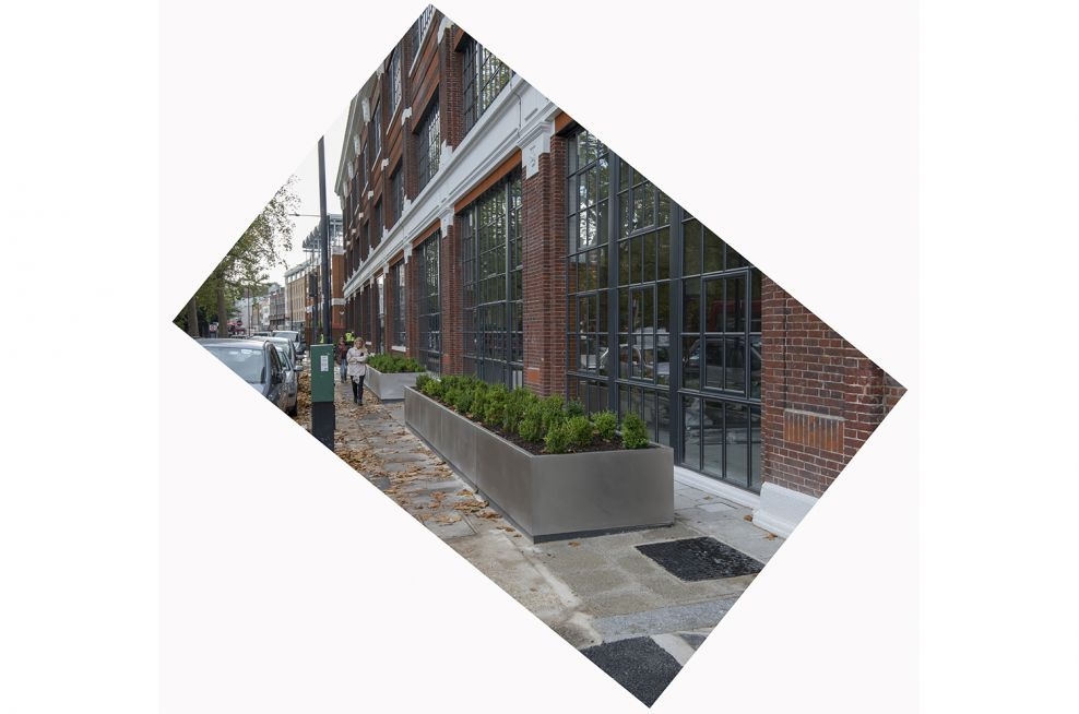 Public realm exterior office planters in London
