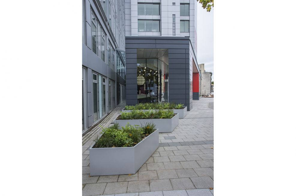 Steel Coated Planters Of Vartious Size Edinburgh
