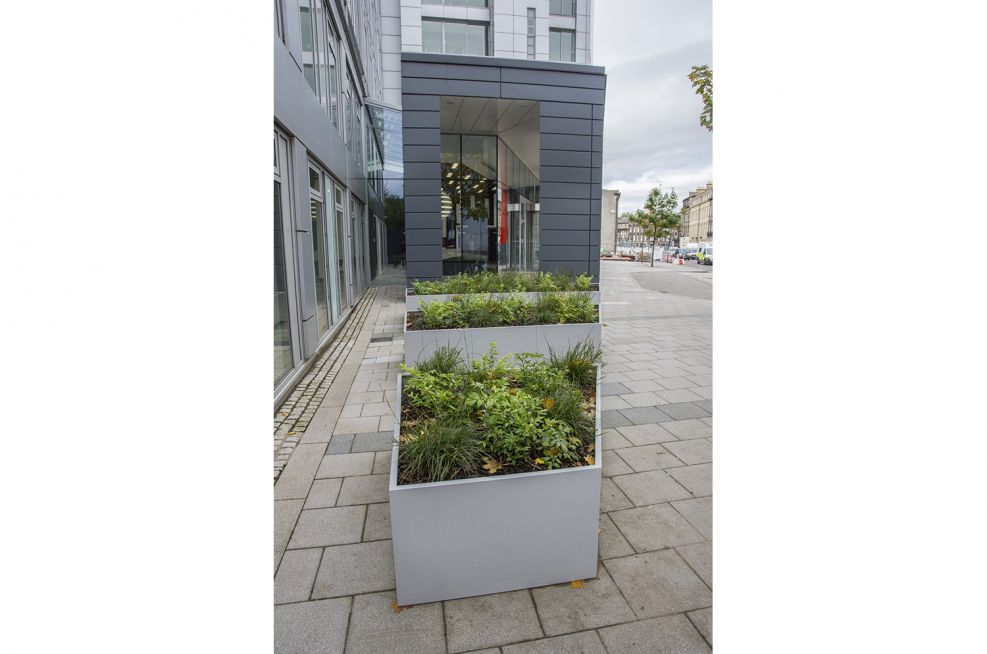 Weatherproof Powder Coated Trapezoid Planters