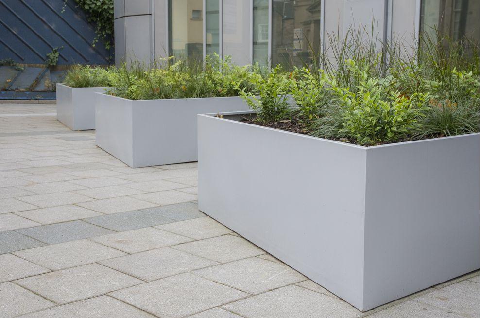 Zintec Steel Polyester Powder Coated planters