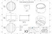 CAD design for planter movable via forklift
