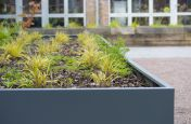 Custom extra large planters in weatherproof Zintec steel