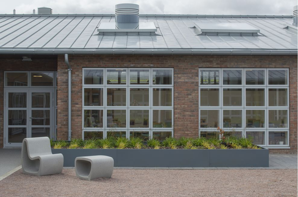 Bespoke 7 metre wide planter in Edinburgh day care and respite centre