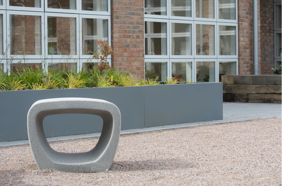 Bespoke external powder coated steel planters